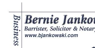 Bernie Jankowski, Barrie, lawyers, real estate, mortgages