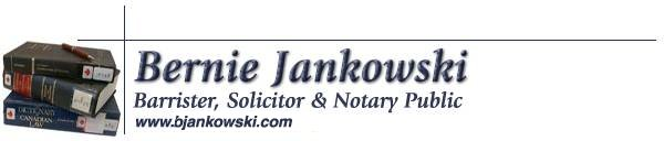 Top logo,  Bernie, Jankowski, barrister, solicitor, notary public, law, lawyers, Barrie, real estate law, civil law, legal, solicitors, lawyer